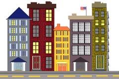 Een stedelijke Amerikaanse Buurt Royalty-vrije Stock Afbeeldingen