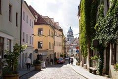 Een steeg in de oude stad van Meissen Royalty-vrije Stock Foto's