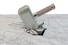 Een steen van de hamerslag Royalty-vrije Stock Foto
