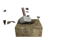 Een steen van de hamerslag Royalty-vrije Stock Foto's