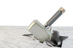 Een steen van de hamerslag Stock Afbeeldingen