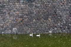 Een steenmuur. Stock Fotografie