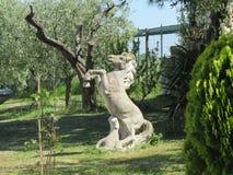 Een steenpaard stock afbeeldingen