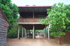 Een stelthuis dichtbij de Markt van Preah Vihear in Kambodja royalty-vrije stock fotografie