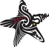 Een ster Tatoo royalty-vrije stock afbeeldingen