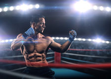 Een sterke mens in de ring Royalty-vrije Stock Foto's