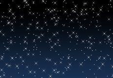 Een sterrige hemel Stock Afbeeldingen