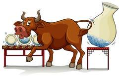 Een stier in een winkel van China royalty-vrije illustratie