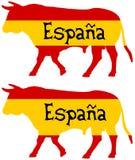 Een stier in Spanje wordt gekweekt dat Stock Foto's
