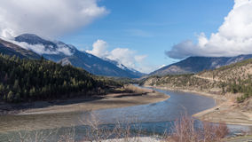 Een stille sectie in Fraser River Stock Foto