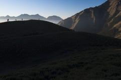 Een stille tijd op de berg stock foto