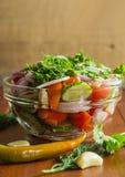 Een stilleven met gemengde salade Royalty-vrije Stock Afbeelding