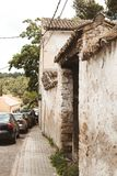 Een straat in buitrago DE lozoya Madrid Spanje royalty-vrije stock foto
