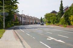 Een straat in Duitsland Stock Fotografie