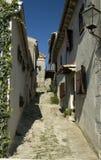 Een straat in Gezoem, Kroatië. stock fotografie
