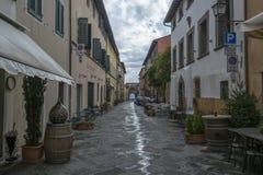 Een straat in Monte Carlo, Italië stock foto's