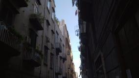 Een straat in Napels stock footage