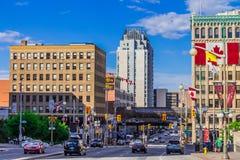 Een straat in Ottawa Stock Foto