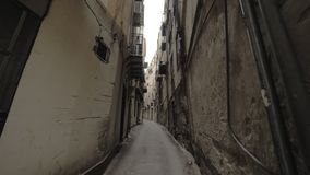 Een straat in Palermo stock footage
