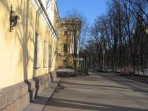 Een straat in St. Petersburg royalty-vrije stock afbeelding