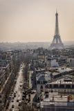 Een straat van Parijs Stock Fotografie
