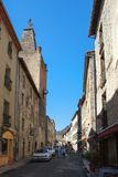 Een straat in villefranche-DE-Conflent, Languedoc-Roussillon, Frankrijk stock afbeelding