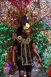 Een straatdanser bij de Heuvel Carnaval van Londen Notting stock foto
