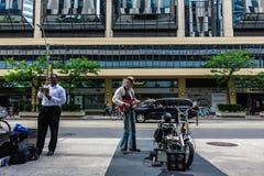 Een straatgitarist Royalty-vrije Stock Foto