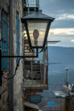 Een straatlantaarn, Safed (Tzfat) royalty-vrije stock afbeelding