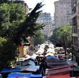 Een straatmarkt Stock Foto