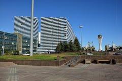 Een straatmening in Astana Stock Fotografie