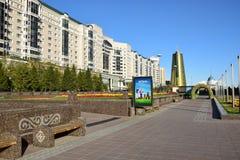 Een straatmening in Astana Royalty-vrije Stock Foto