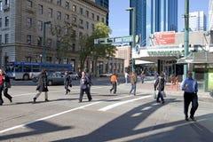 Een straatscène, Edmonton, Canada royalty-vrije stock afbeelding