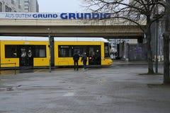 Een straattram in Berlijn, Duitsland Stock Fotografie