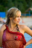 In een strand Stock Afbeeldingen