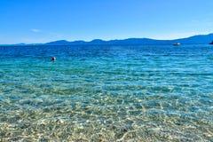Een strand in Drvenik, Kroatië Royalty-vrije Stock Foto