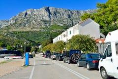 Een strand in Drvenik, Kroatië Royalty-vrije Stock Foto's