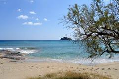 Een strand in Kreta Stock Afbeeldingen