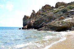 Een strand in Kreta Royalty-vrije Stock Afbeelding