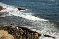 Een strand van Californië Stock Foto