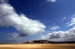 Een stranddag Stock Afbeeldingen