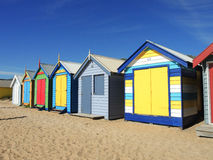 Een strandhut bij het strand van Brighton, Melbourne Victoria royalty-vrije stock foto's