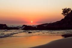 Een strandzonsopgang Royalty-vrije Stock Afbeelding