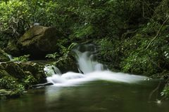 Een stroom tussen de valleien royalty-vrije stock afbeeldingen
