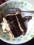 Een stuk van cake royalty-vrije stock afbeelding