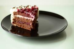 Een stuk van cake stock foto's