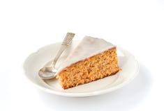Een stuk van de Cake van de Wortel en van de Amandel Royalty-vrije Stock Foto's
