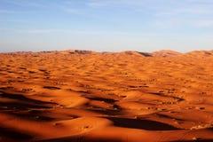 Een stuk van de woestijn van de Sahara stock foto's