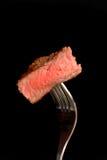 Een stuk van geroosterd ribeye lapje vlees Royalty-vrije Stock Foto