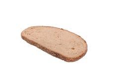 Een stuk van grijs die brood op witte achtergrond wordt geïsoleerd stock foto's